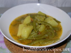 Potato and green beans stew