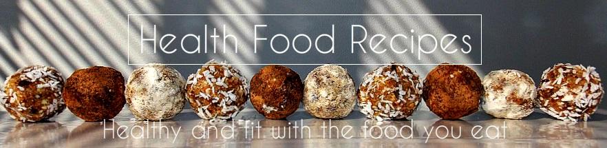 Health food recipes header image
