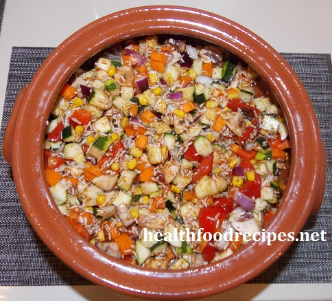 vegan risotto with vegetables
