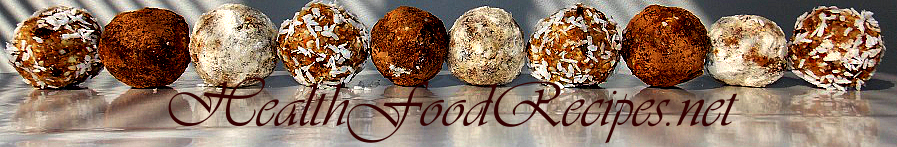 Health food recipes header image